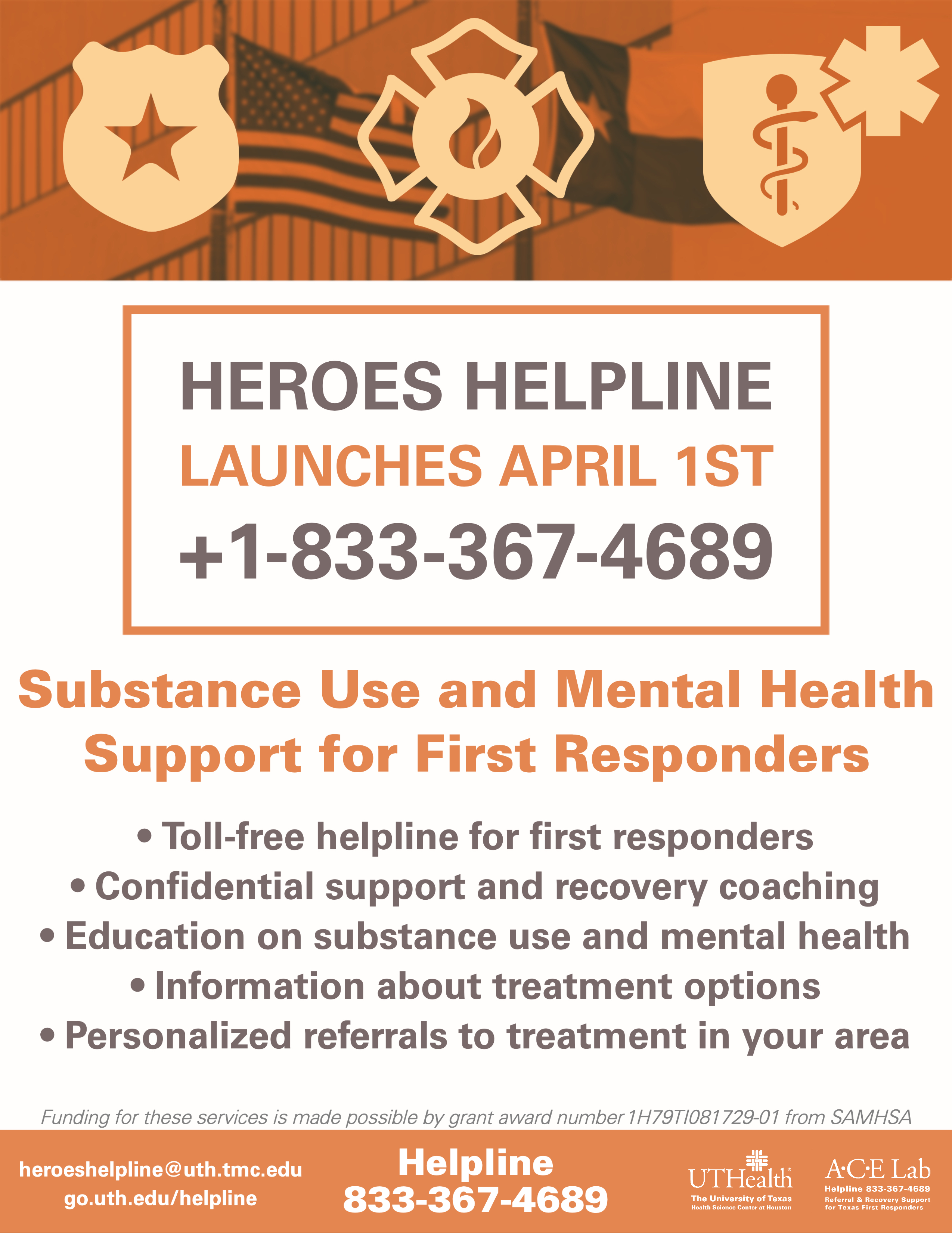FR Helpline Launch Flyer