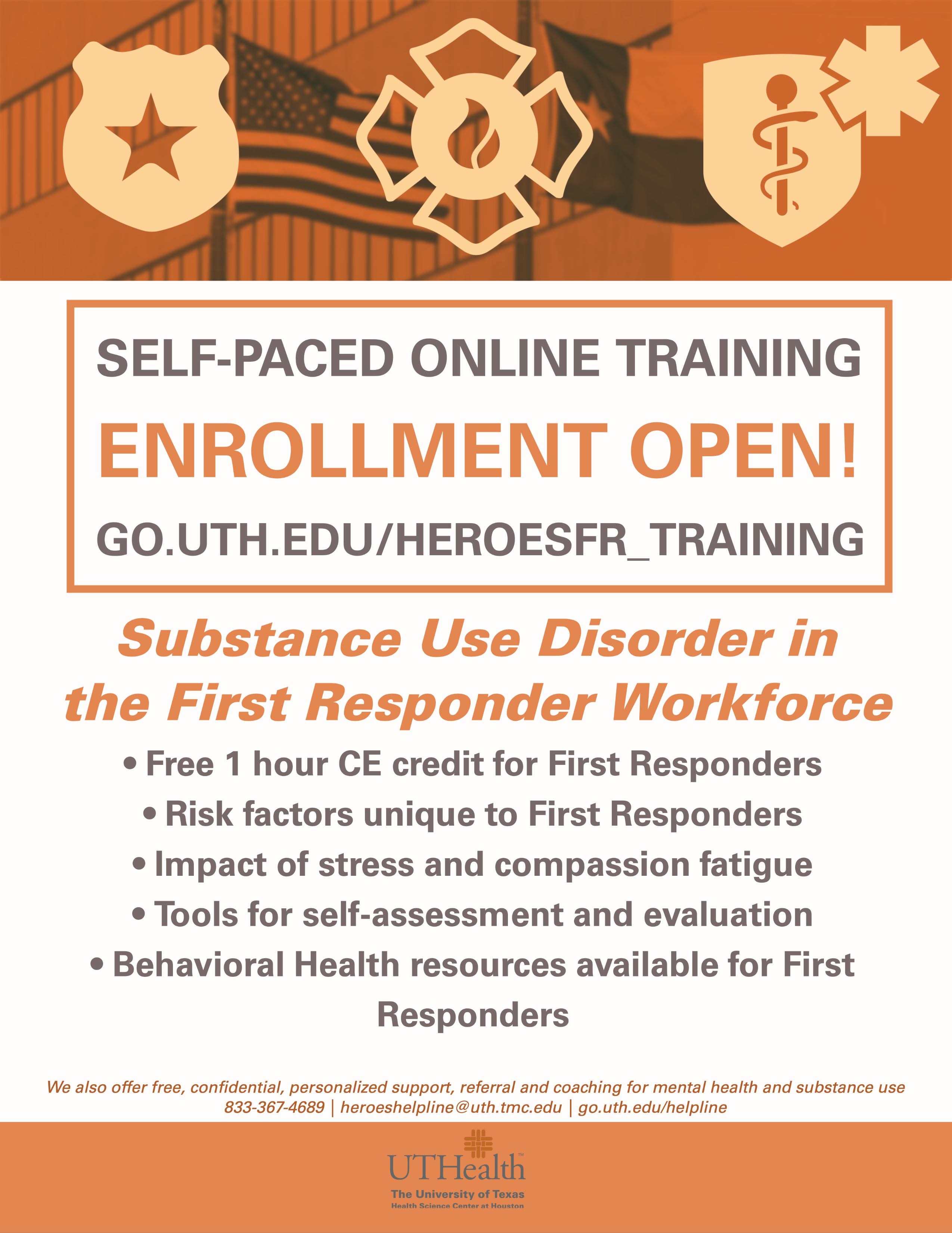 Self Paced Online Training Open Enrollment Flyer Photo
