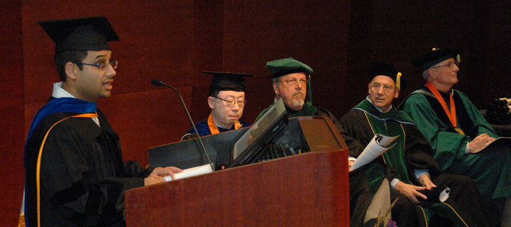 Dr. Walji speaks at Graduation Ceremony