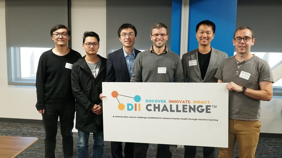 2019 DII Challenge Workshop Presenters: Dongdong Zhang and Changchang Yin, Buckeye AI Team; Xianghao Chen, GuanLab Team; Alistair Johnson, LCP Team; Xianlong Zeng, NCH Team; and Tom Pollard, LCP Team.