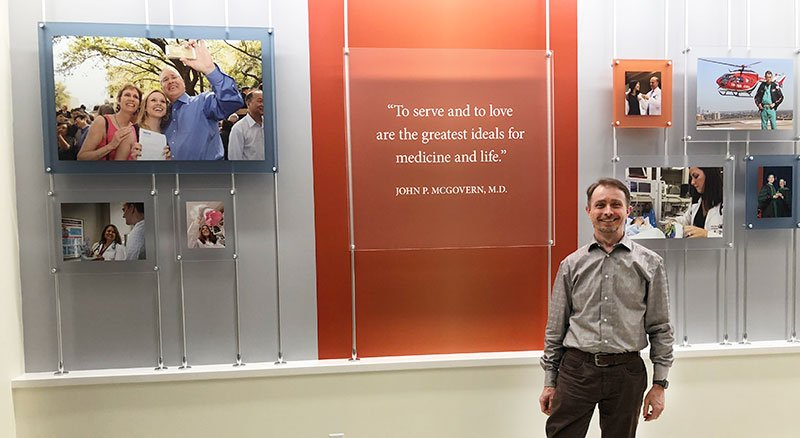 Image of Stephen Jones, program manager of interprofessional education (IPE) at UTHealth.