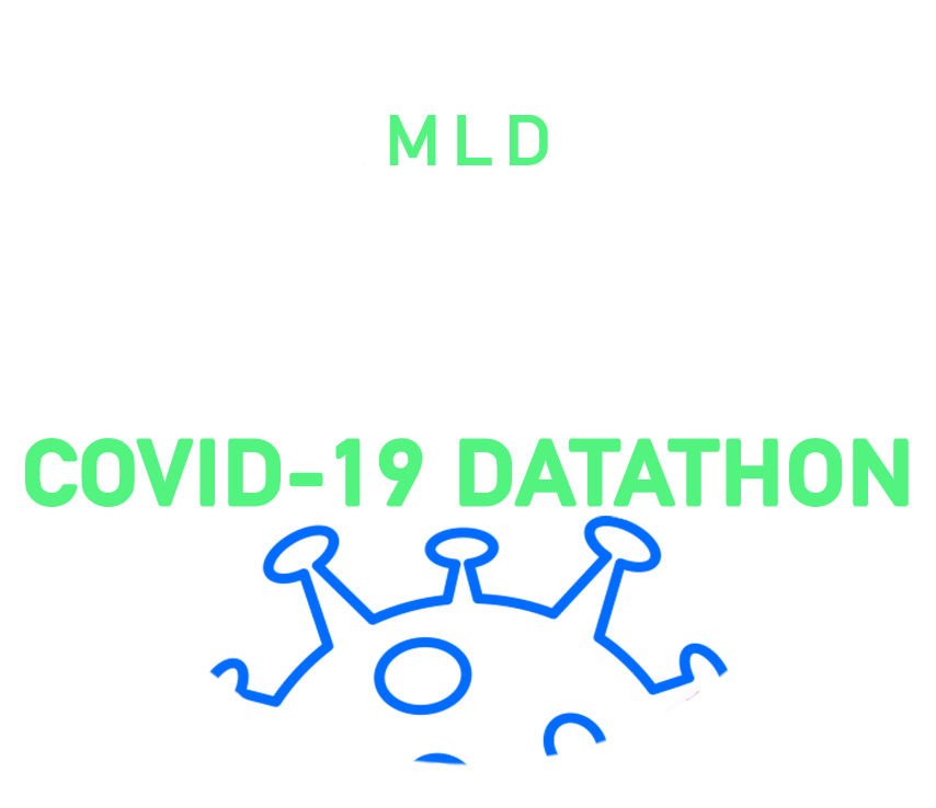 machine learning datathon covid-19 logo