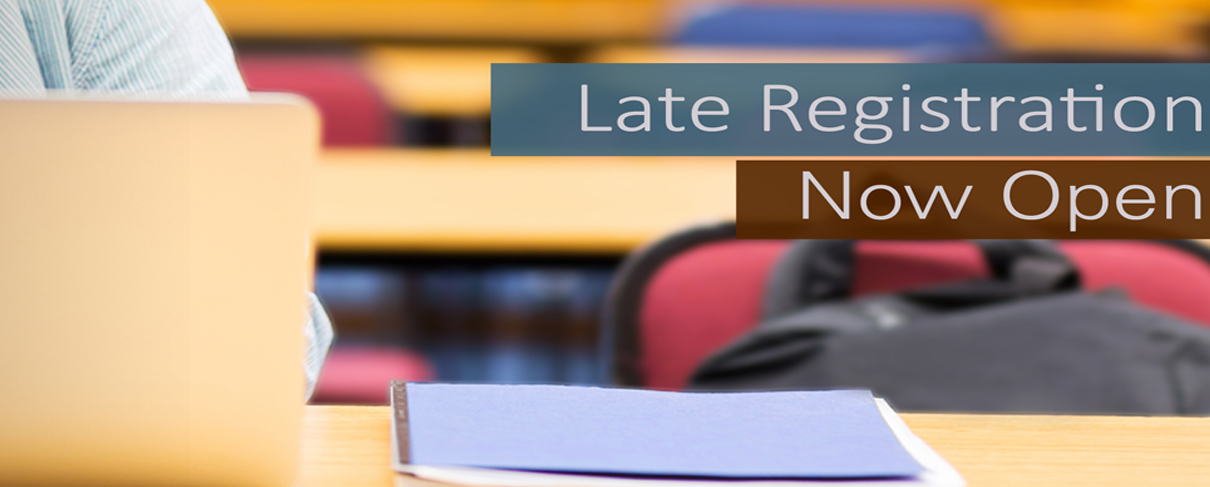 Spring 2019 Late Registration Now Open