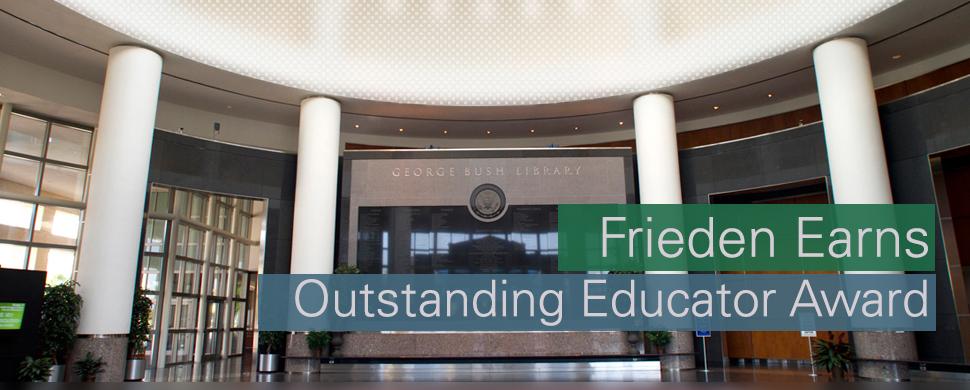 Frieden Outstanding Educator