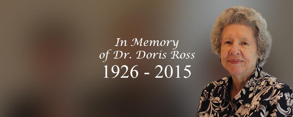 SBMI Honors Dr. Doris Ross