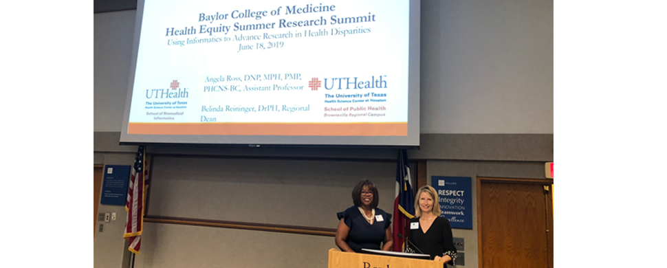 Baylor College of Medicine Health Equity Summer Research Summit 2019 - Dr. Angela Ross