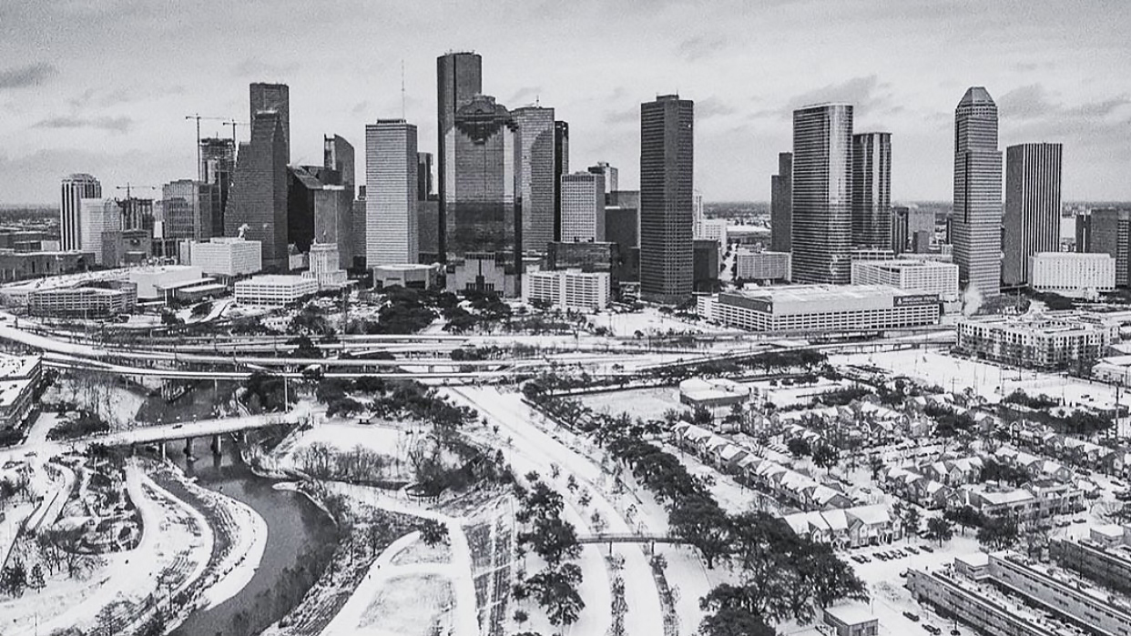 Image of Downtown Houston Winter Storm